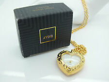 REDUCED!!   VINTAGE 1993 AVON HEART PENDANT WATCH IN BOX