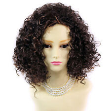 SEXY Wild Untamed Brown & Red Short Curly Ladies Wigs from WIWIGS UK