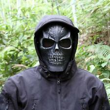 Full Face Skull Skeleton Mask Hunting Party Scary Halloween Costume Black God