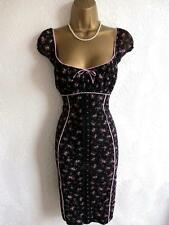 Breathtaking JANE NORMAN Sexy Gypsy Black Pink  Dress Size 10 12