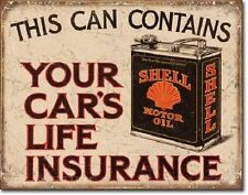 Shell Oil Car's Life Insurance Tin Sign Metal Poster vintage garage decor 2088