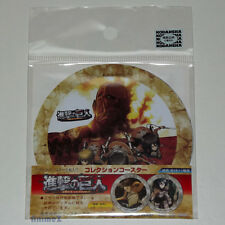 Attack On Titan pack of 2 coasters (feat. Eren, Mikasa & Armin back design) NEW