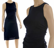 NEW Ann Taylor size 10 Navy Ruched Dress Clubwear Cocktail Formal