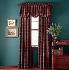 """New CHAPS Home YORKSHIRE Plaid Lined and Interlined Window 1 Curtain 54""""x84"""""""