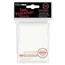 50 ULTRA PRO Deck Protector Card Sleeves Magic Pokemon Standard 82668 White