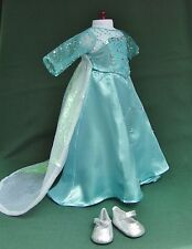 American Girl 18 inch FROZEN ELSA Outfit with GOWN SILVER SHOES + CAPE Isabelle
