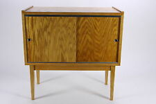 Hand Crafted MCM Style Vinyl LP Record Cabinet End Table Brassfield Original