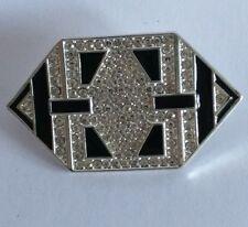 VINTAGE Art Deco Stile Geometrico spilla di strass