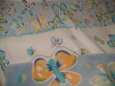 SHABBY COTTAGE BUTTERFLIES SHOWER CURTAIN & RUG PURPLE BLUE PARIS CHIC