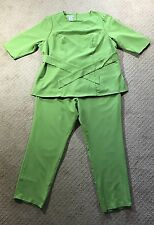 NWT Women's Jessica London Light Green 2-Piece Top and Ankle Pants Suit-Size 16