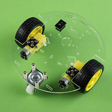 Smart Car Robot With Chassis And Kit (Round, Arduino Controllable, from USA)