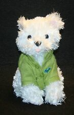 Bath Body Works CHIP THE WHITE DOG in Green Polo Shirt 6 1/2 Inch Plush Toy