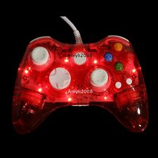 Red Glow Light USB Wired Game Console Controller Gamepad For Xbox 360 Slim &PC