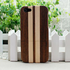 Real Natural Zebra Wood Wooden Hard Case Cover For Apple iPhone 5S