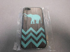 Case Color print Elephant  on fake wood design for iphone 5