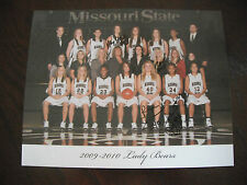 Vtg 2009-2010 Lady Bears MO State MSU Basketball Signed Stock Soldner Griggs