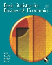 Basic Statistics for Business and Economics by William G. Marchal, Samuel Adam W