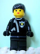 LEGO Minifig cop024 @@ Police Zipper Sheriff Star, Ponytail Hair 2234 6332 6636