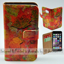 """Wallet Phone Case Flip Cover for iPhone 6 / 6S 4.7""""- Autumn Leaf Rain Fall"""