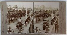 ROSES STEREO PHOTO AUSTRALIAN LIGHT HORSE SOLDIERS PORT MELBOURNE BOER  WAR