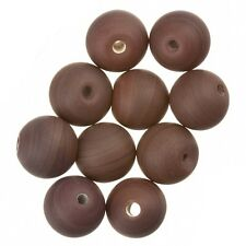 Matte Brown Round Glass Beads 10mm Pack of 10 (A33/2)