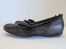 Privo Clarks Black Chinese Dragon Leather Mary Jane Ballet Flats Size 5.5 M