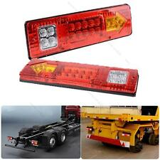 2X 19 LED Trailer Truck RV ATV Turn Signal Running Tail Light #L White-Amber-Red
