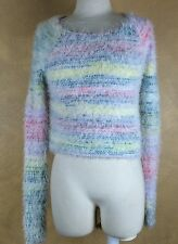 Holister Fuzzy Cropped Multi-color Cropped Sweater Size XS