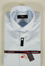 Camicia Ingram CottonStir No Stiro Celeste slim fit collo mezzo francese TG 40