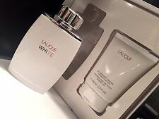 2pc Lalique White for Men Gift set w/Spray + Body/Shampoo NIB