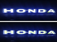 Car Flexible Rubber Bumper Corner Protector LED HONDA Logo DRL White COB Light