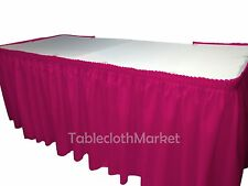 POLYESTER PLEATED TABLE SET SKIRT skirting with VELCRO Catering Trade Show