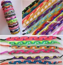 100 PERUVIAN FRIENDSHIP BRACELETS - Zigzag knot - Wholesale