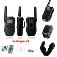 NEW Waterproof 300M 100LV LCD Remote Dog Pet Training Collar Shock Vibrate SY