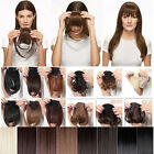 SALON BANG Clip on Front bangs Fringe hair extension Straight/Curly blonde/brown
