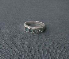 Finest quality 925 Sterling silver Bespoke hand made Aquamarine ring size L 1/2