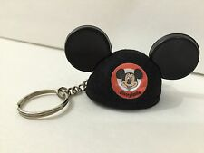 DISNEYLAND RESORT MICKEY MOUSE FELT BLACK EAR HAT KEYRING KEYCHAIN NEW