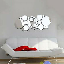 Removable Round Mirror Style Art Wall Stickers Decal Trendy Home Mural Decor