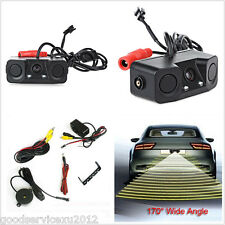 Waterproof 3in1 Car Parking Reversing Radar System Backup Rear View CMOS Camera