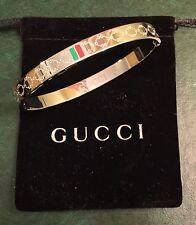 Gucci Women's Love Bangle White Gold Color Size 17 cm Brand New