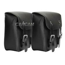 2x PU Side Saddle Bag Saddlebags for Harley Davidson XL Sportster 1200 Custom