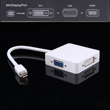 3in1 Mini DP Displayport to HDMI DVI VGA Adapter Cable for Apple MacBook Air Pro