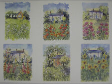 10 x A4 120gsm Watercolour Cottage Garden Prints Card Toppers for Cardmaking