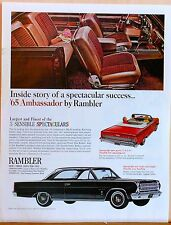 1965 magazine ad for Nash - Ambassador by Rambler photos, 3 sizes for 1965