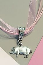 �� PIG LOVER PENDANT NECKLACE �� 4H �� SWINE �� FARMER �� RANCH  �� PIGLET ��