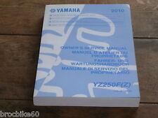 MANUEL REVUE TECHNIQUE D ATELIER YAMAHA YZ 250 F 2010- SERVICE MANUAL YZF YZ250F