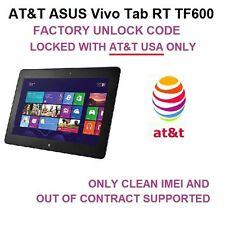 AT&T ASUS Vivo Tab RT TF600 | FACTORY UNLOCK SERVICE by CODE | FAST 0-72H READ!!
