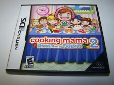 Cooking Mama 2 Dinner With Friends (Nintendo DS) Lite DSi XL 3DS w/Case & Manual
