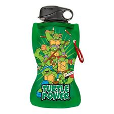 New TMNT Collapsible Water Bottle Turtle Vandor Teenage Mutant Ninja Turtles Boy