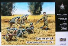 1/35 WWII Counterattack Soviet Infantry Summer 1941 (6)  set by Master Box 3563